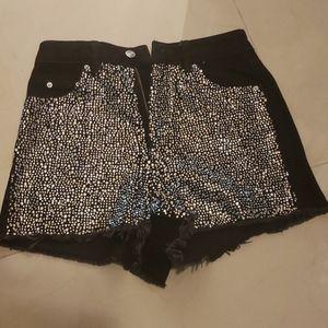 Topshop Shorts with crystals